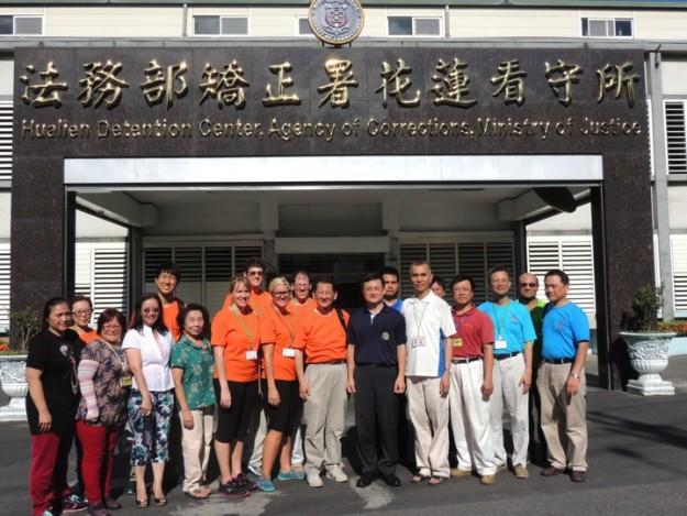 Mission team visiting Hualien Detention Center